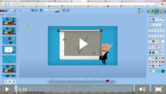 PowToon Video marketing Tutorials -adding soundtrack