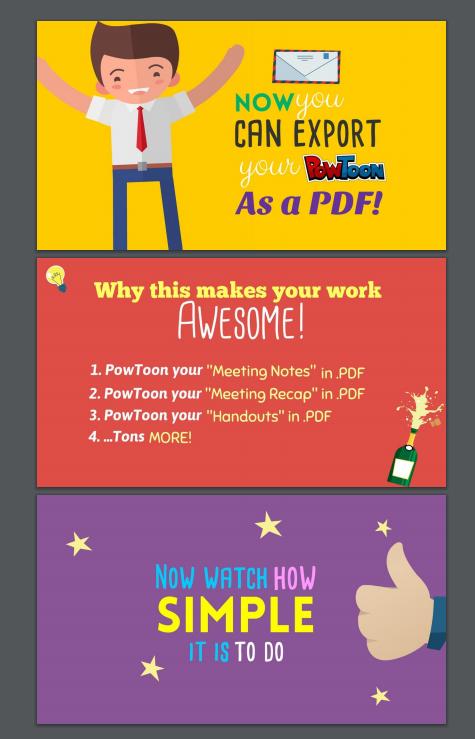 Screenshot of my PowToon in PDF