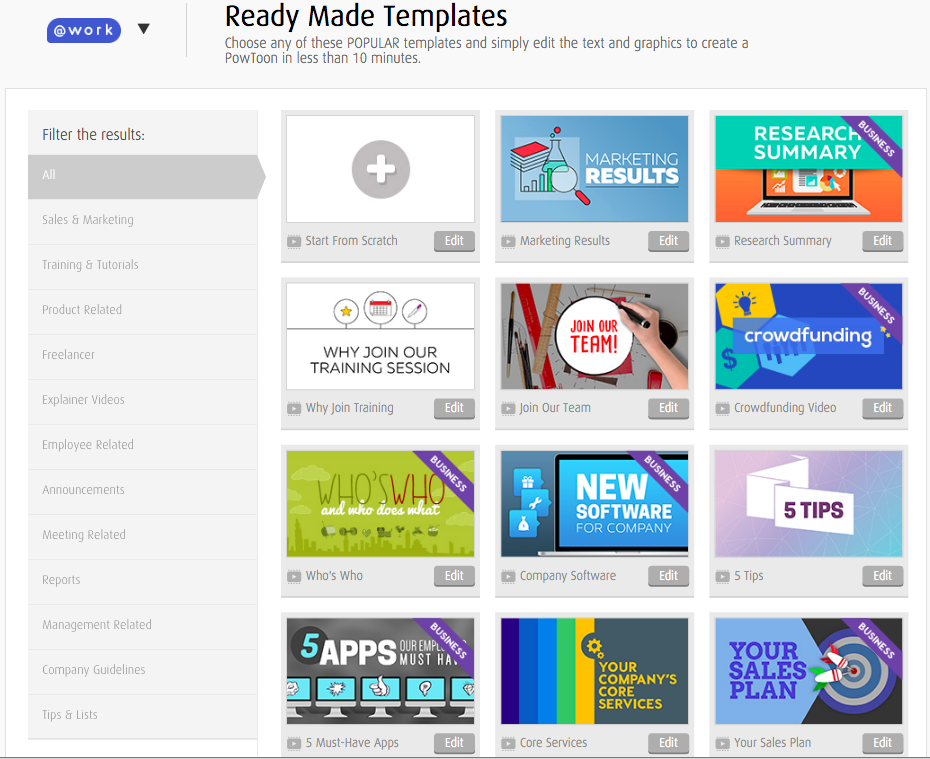 12 All New Ready-Made Work Templates For You