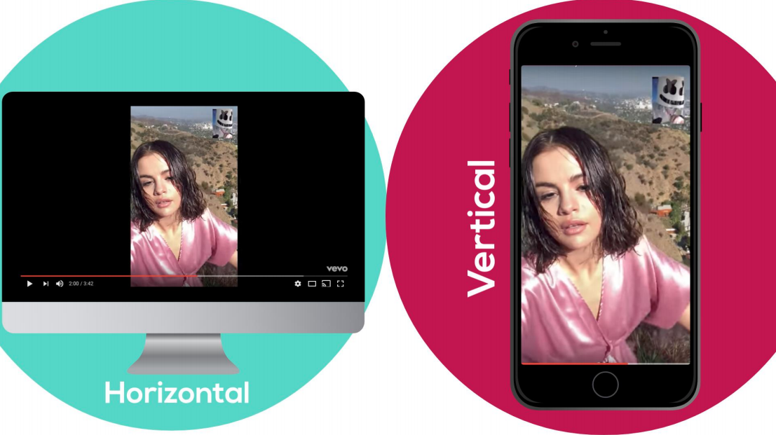 Aspect ratios in action Salena Gomez vertical video
