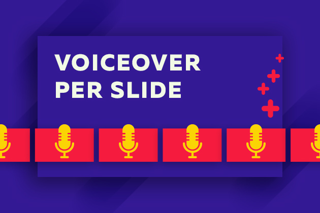 Video feature update voiceover per slide html5