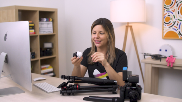snapshot of renee teeley sharing camera tips in her skillshare intro to video marketing course. sign up and make marketing video that actually work for your business