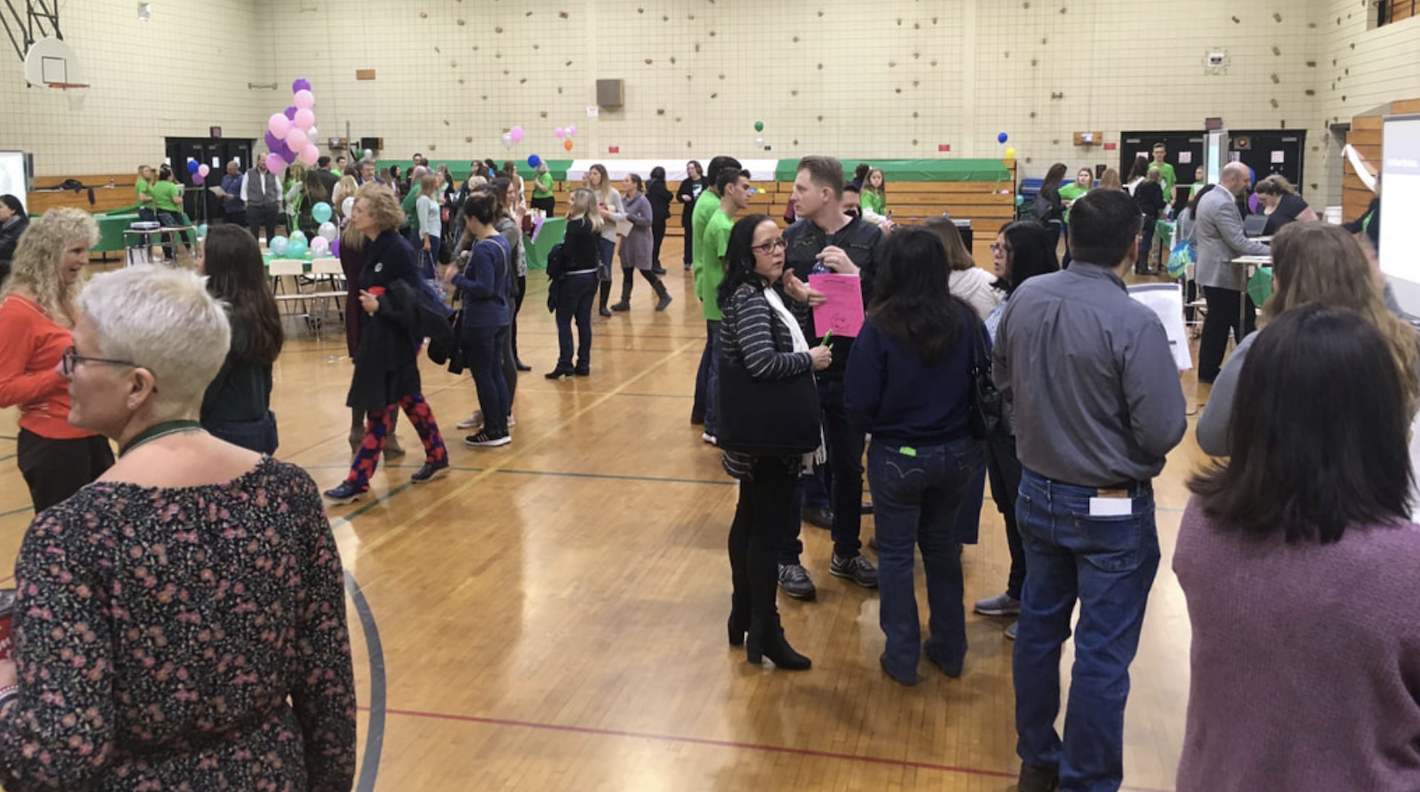 Lake Shore Middle School Gym, Transformed into a digital citizenship carnival