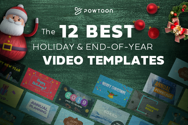 12 best holiday & End-of-Year Video Templates