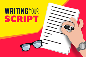 animated explainer step 1 write script