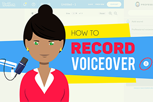 animated explainer step 2 record voiceover