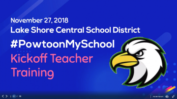 classroom elite teacher training kickoff for the powtoon my school 2018 winners from new york state's lake shore central school district