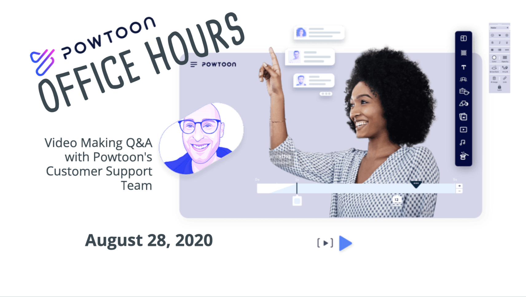 powtoon office hours, on-demand webinar video making q+a