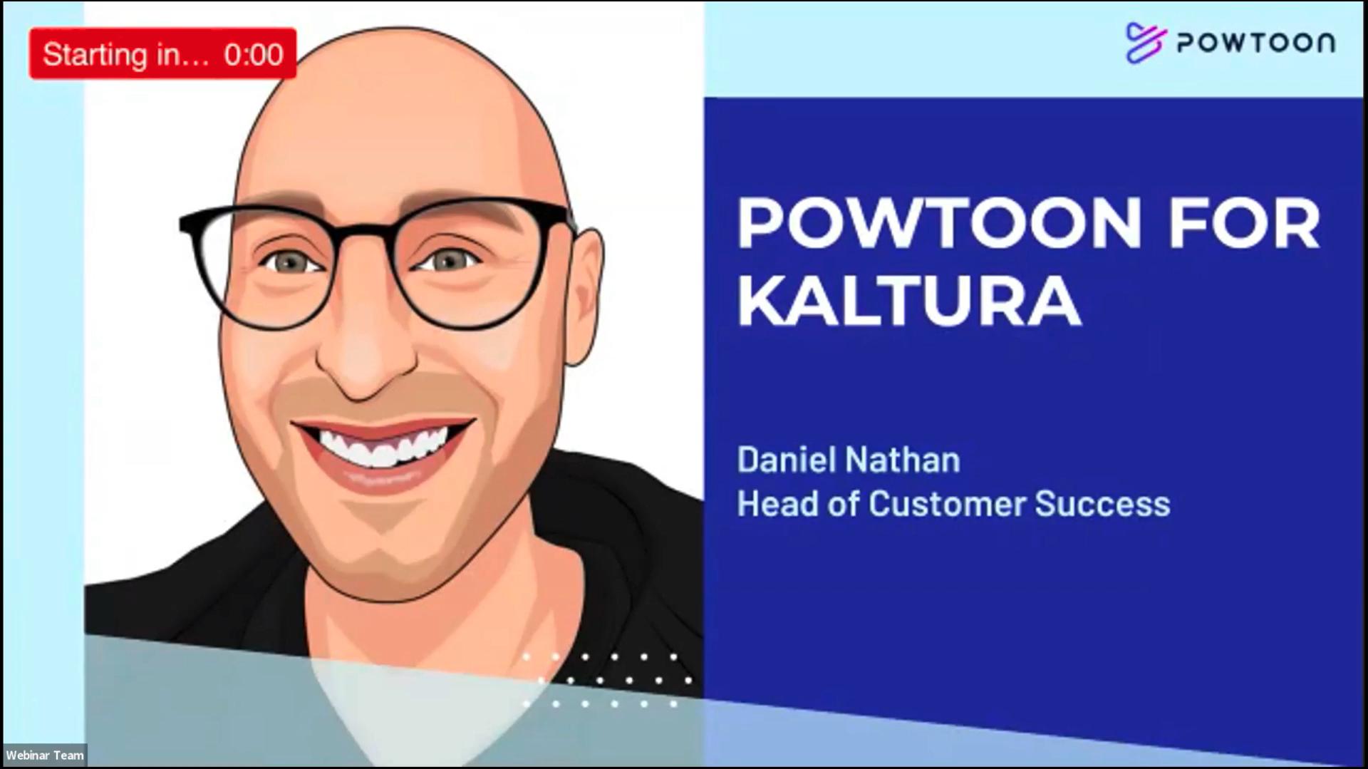 how to use Powtoon with Kaltura