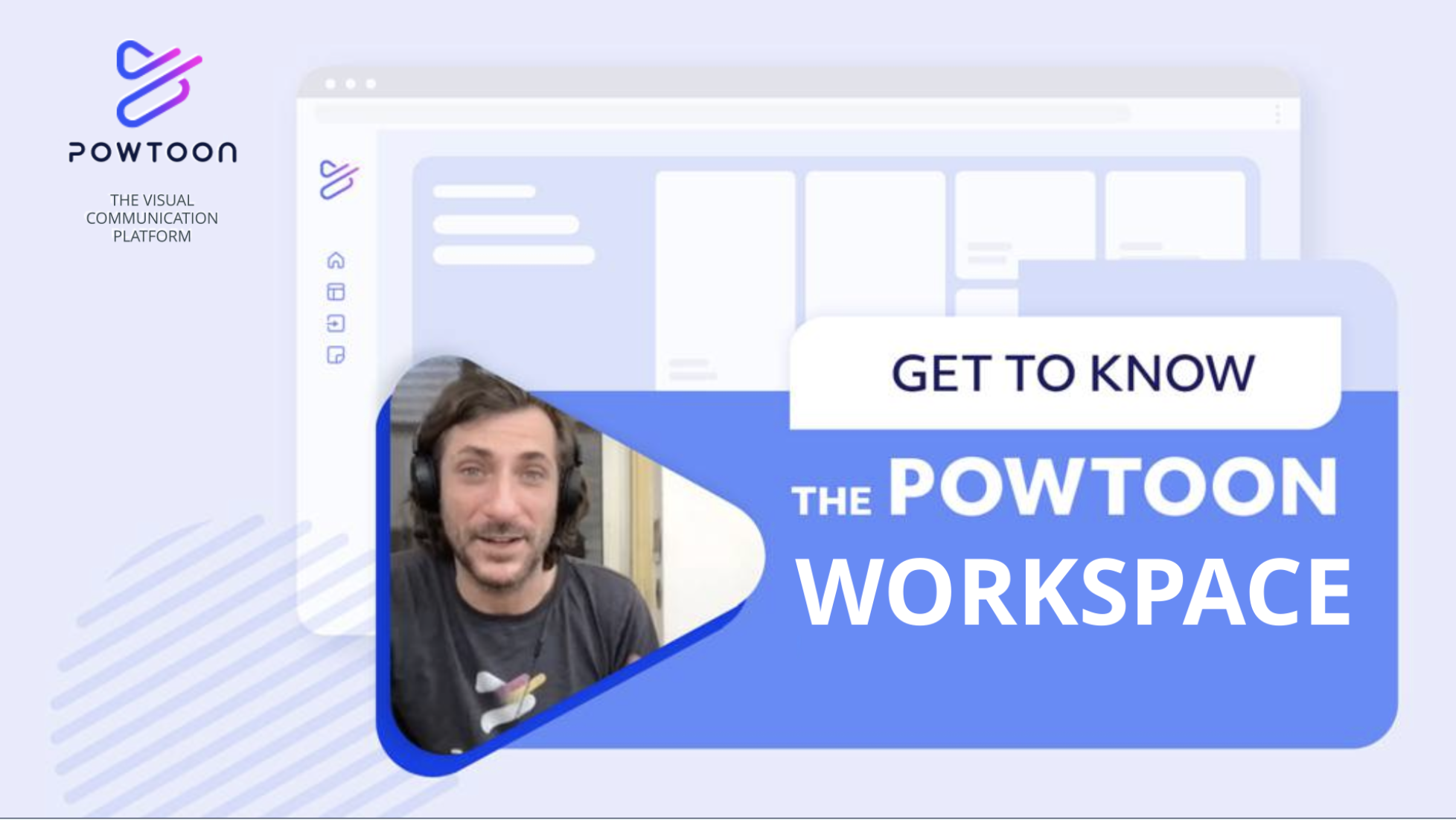 how to use the powtoon workspace